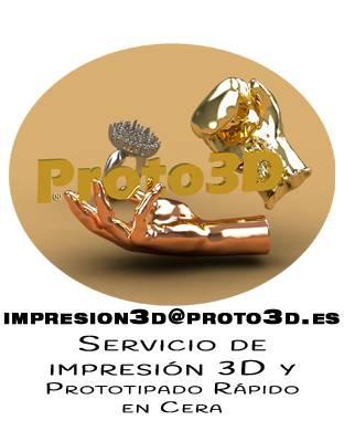 Servicio de impresión 3D y prototipado rápido en cera